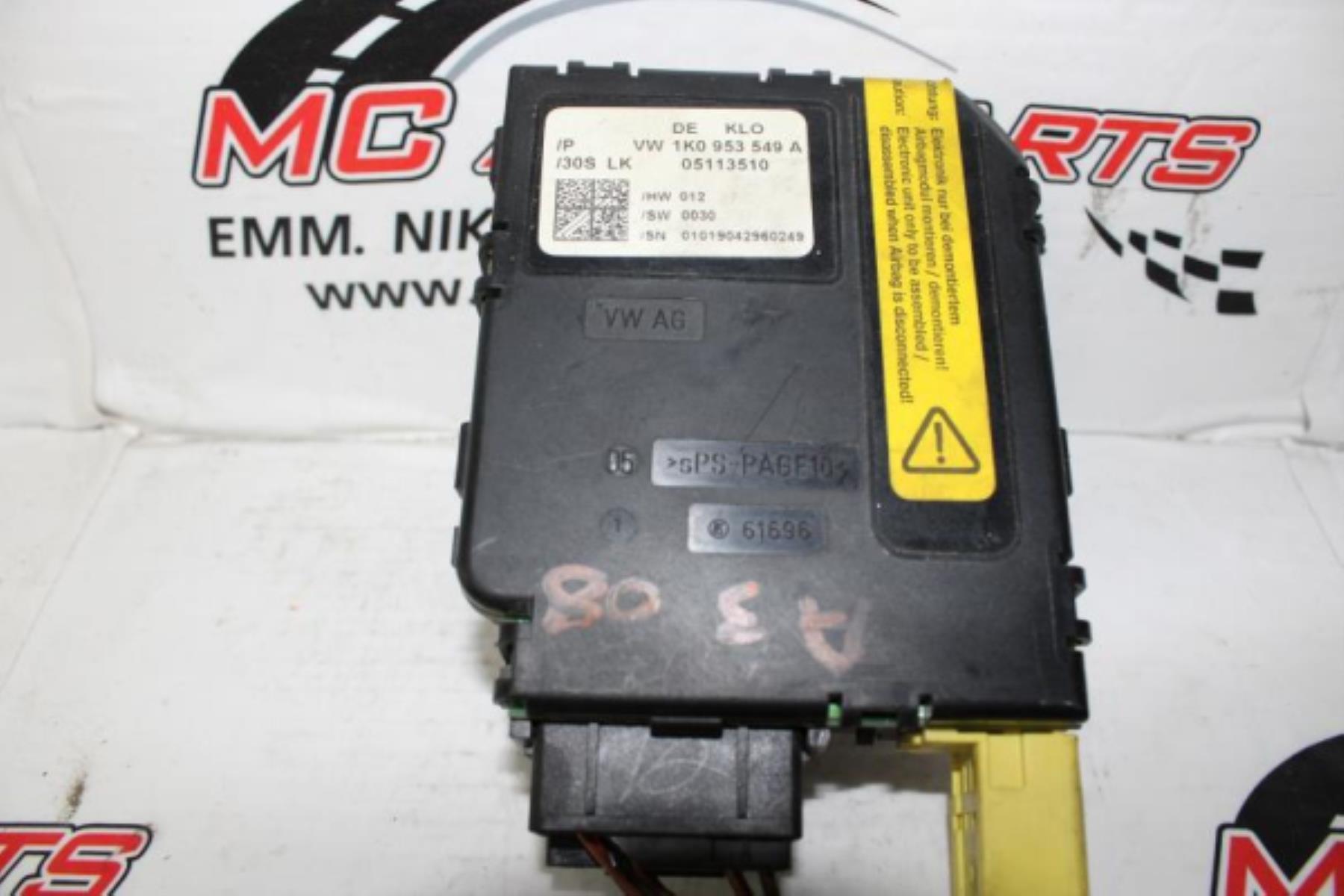 Εικόνα από Πλακέτα  AUDI A3 (2008-2012)  1K0953549A   τιμονιού