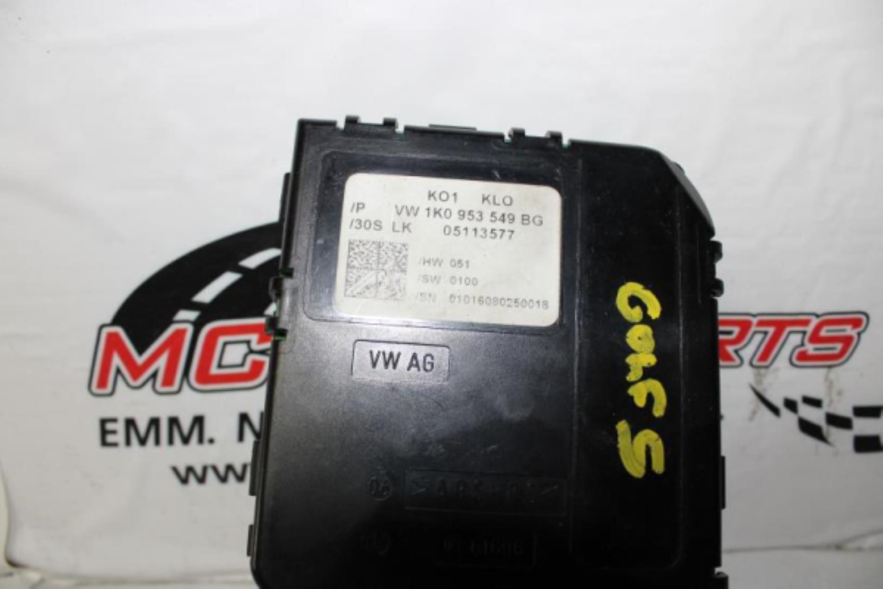Εικόνα από Πλακέτα  VW GOLF 5 (2004-2008)  1K0953549BG   τιμονιού