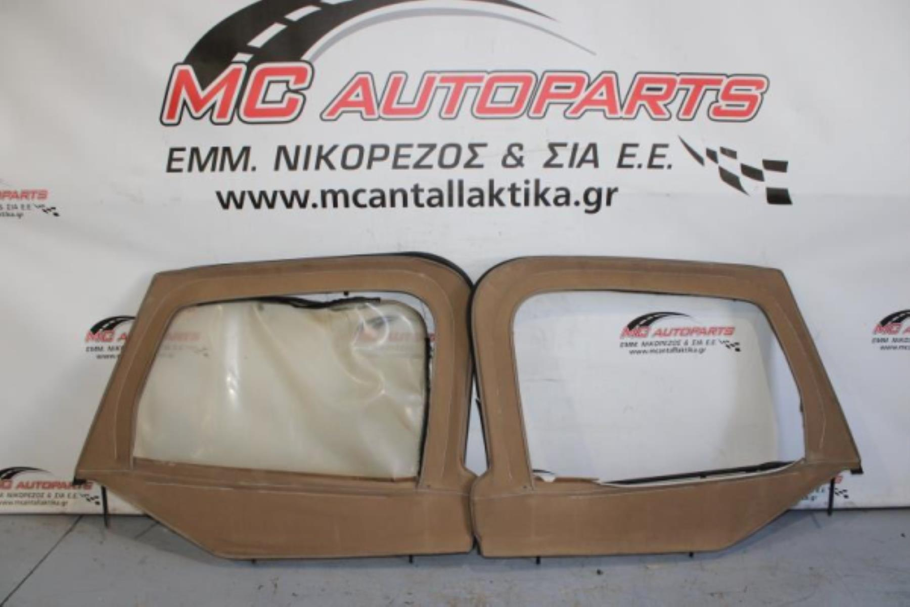 Picture of Soft Top  JEEP WRANGLER (1999-2006)     εμπρός παράθυρα και πλαστικά