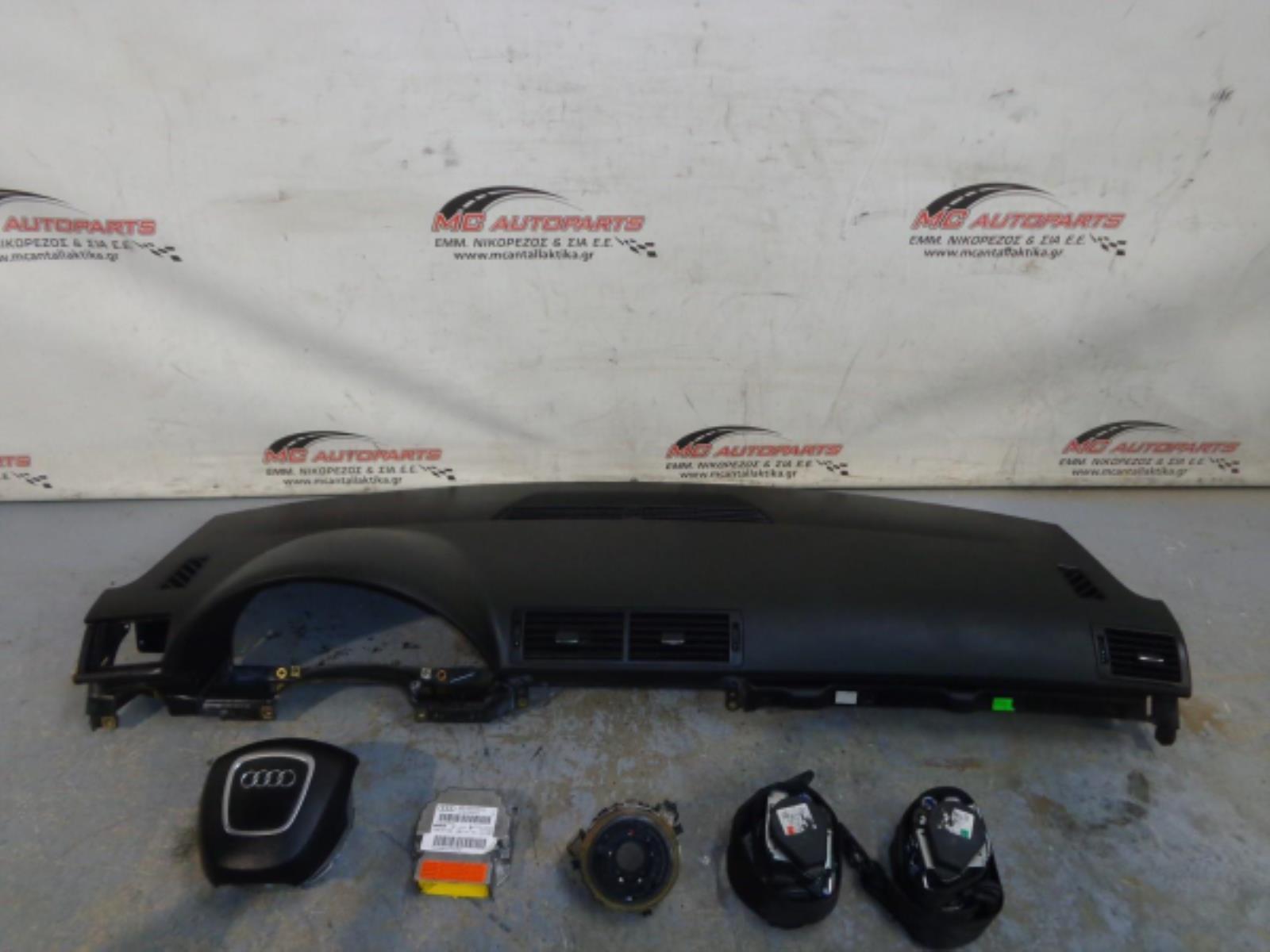 Εικόνα από Αερόσακος  Set  AUDI A4 (2005-2008)     Αερόσακος οδηγού,ταμπλό με αερόσακο συνοδηγού,2 ζώνες,ταινία,εγκέφαλος airbag