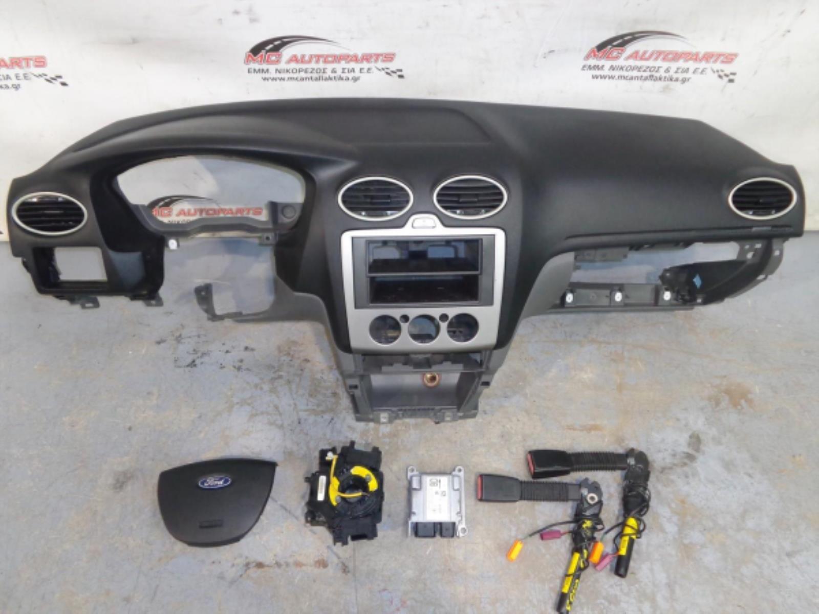 Εικόνα από Αερόσακος  Set  FORD FOCUS (2008-2011)     Αερόσακος οδηγού,ταμπλό με αερόσακο συνοδηγού,2 προεντατήρες ώνης,ταινιά,εγκέφαλος airbag